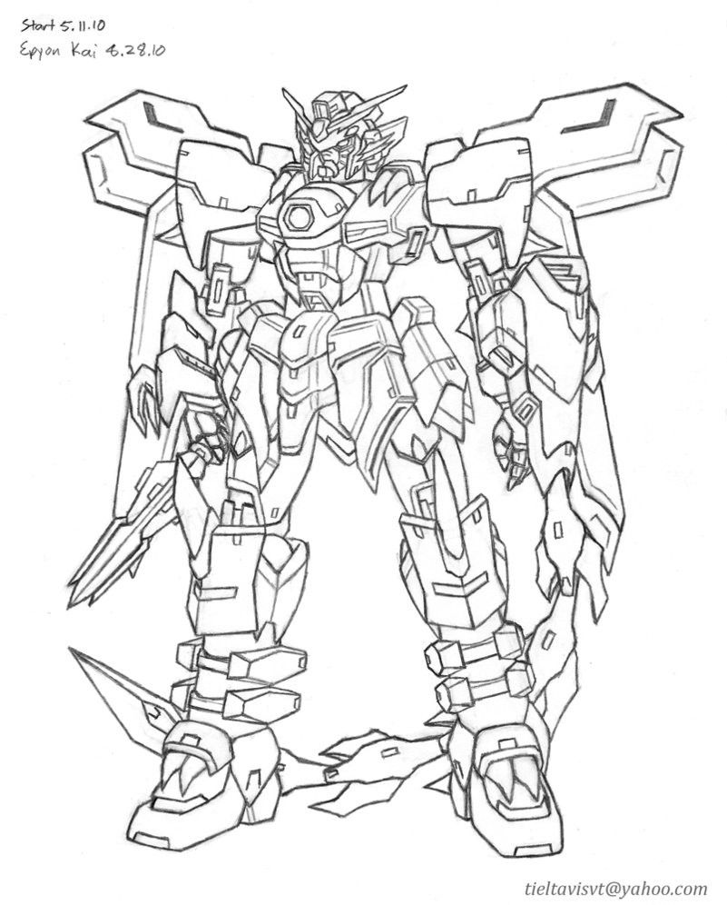Gundam Epyon Kai Lineart Coloring Books Coloring Book Pages Coloring Pages