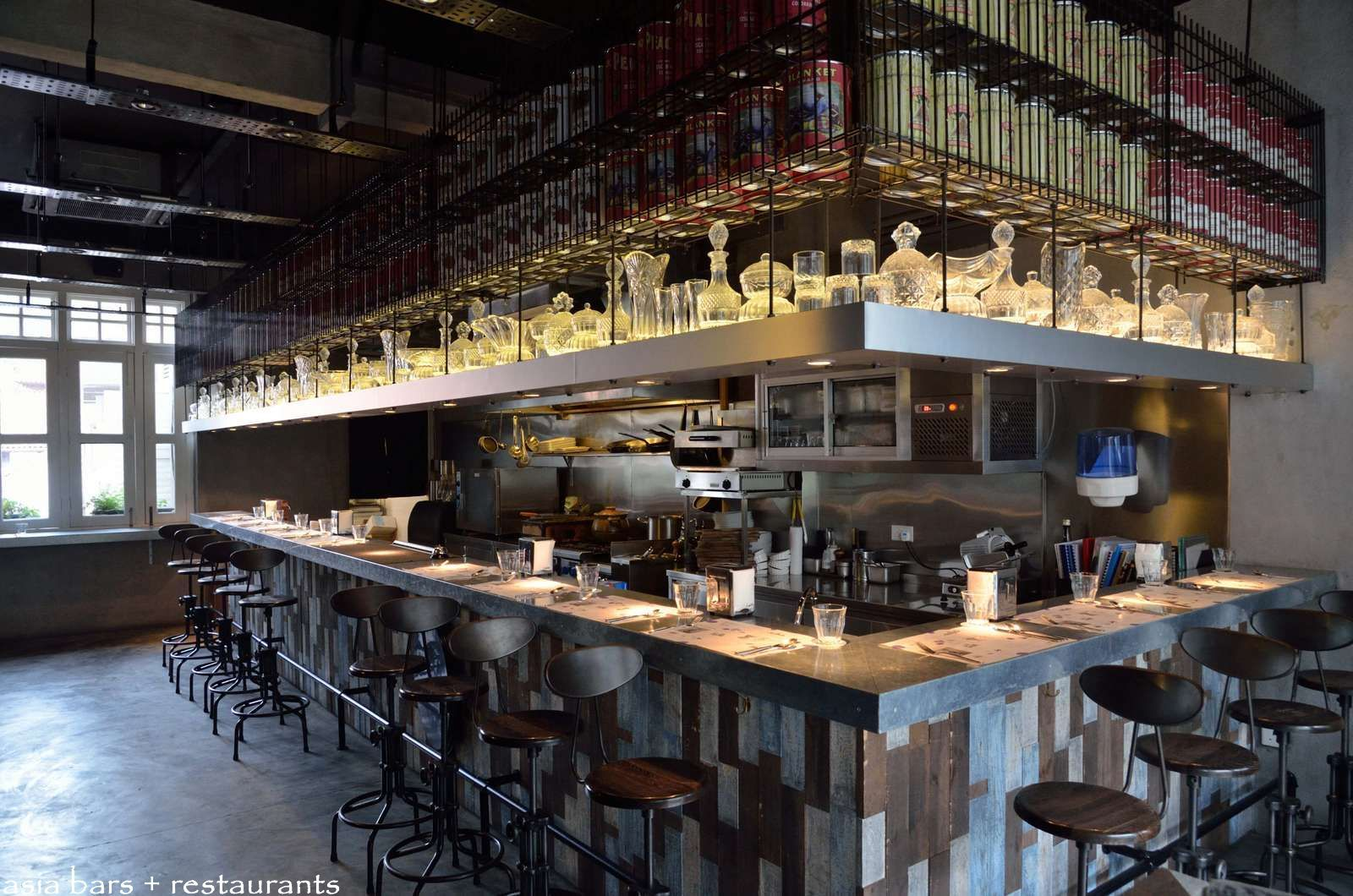 Restaurant kitchen design  Lolla Singapore  small plates to share  Restaurants around the