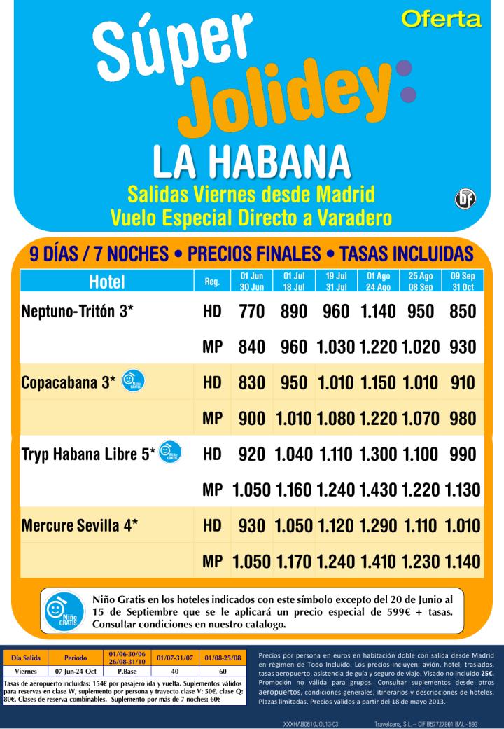 La Habana desde 770€ Tax incl.Oferta Junio-Octubre 7 Noches.Salidas desde Madrid - http://zocotours.com/la-habana-desde-770e-tax-incl-oferta-junio-octubre-7-noches-salidas-desde-madrid/