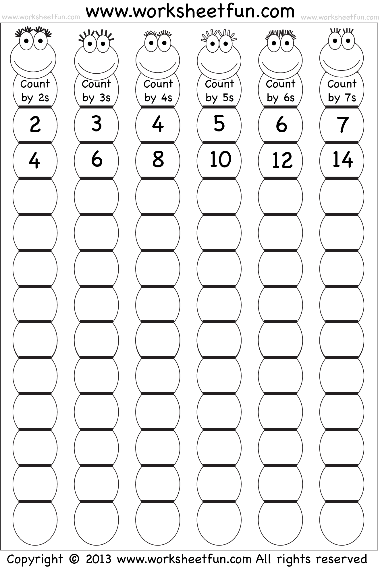 Worksheets Skip Counting Worksheet para mis amigos de los naomeros matematika pinterest skip counting by 6 and can be used as an outdoor activity where students have to jump leap hop etc through