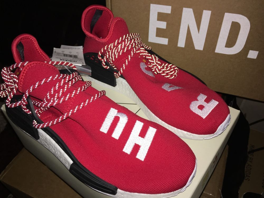 2a7a22aa7 Adidas NMD Human Race Pharrell Williams Red Scarlet BB0616 Size 11 5 w  Receipt