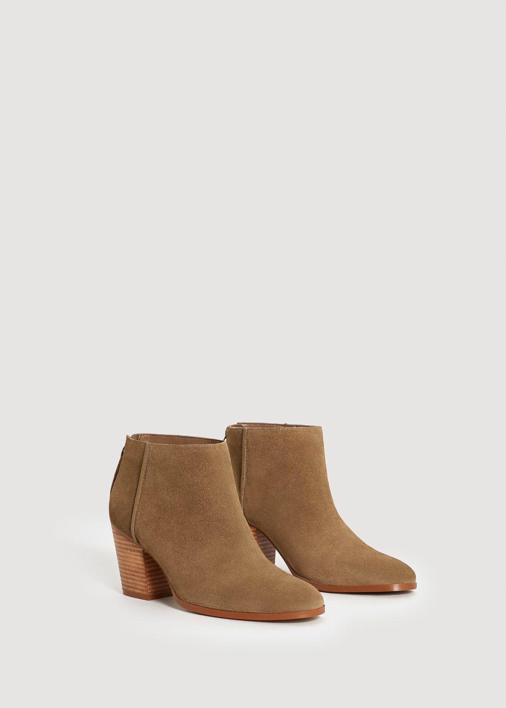631c9d3fb Botín piel serraje - Zapatos de Mujer