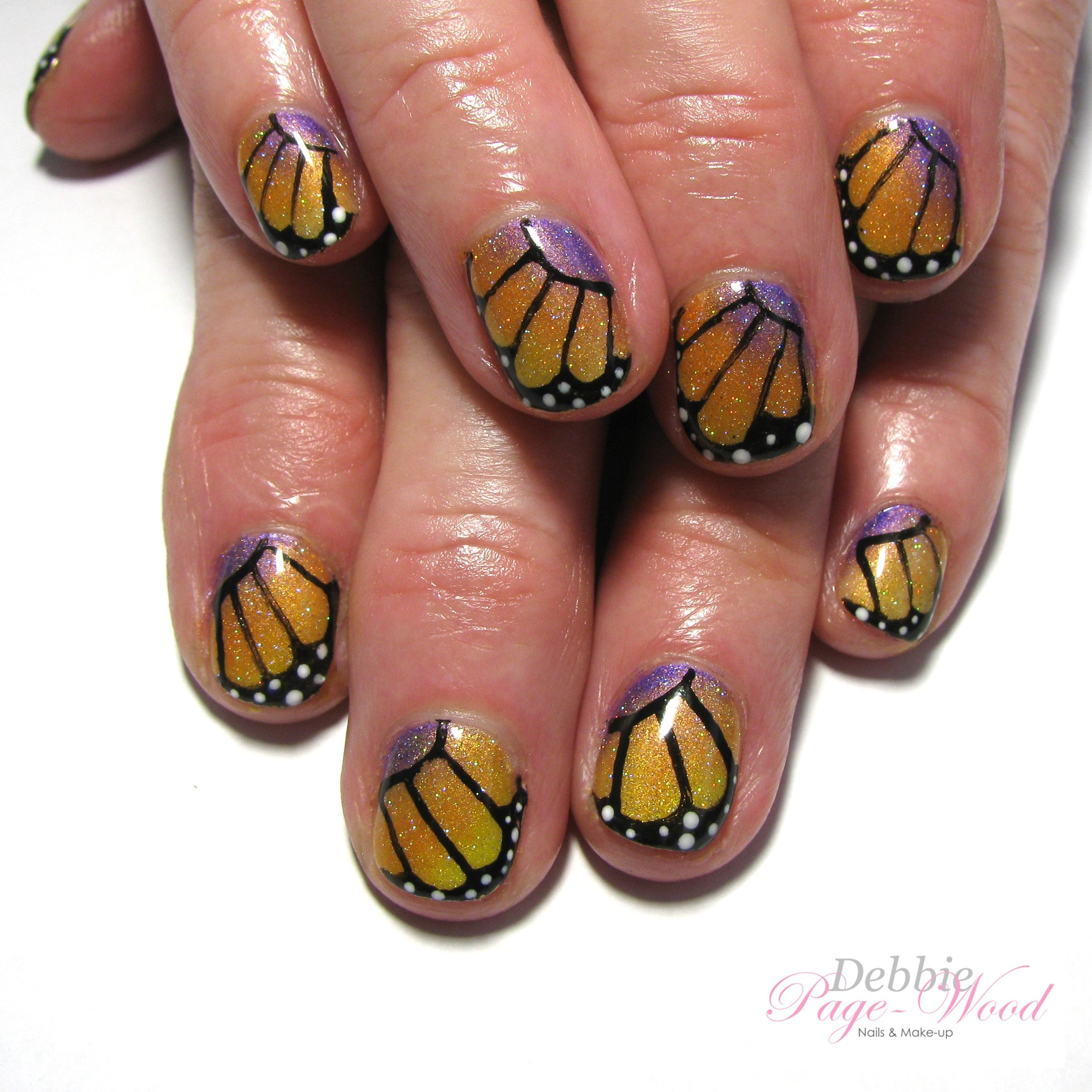 Monarch Butterfly Nails Butterfly Nail Nail Art Designs Nails