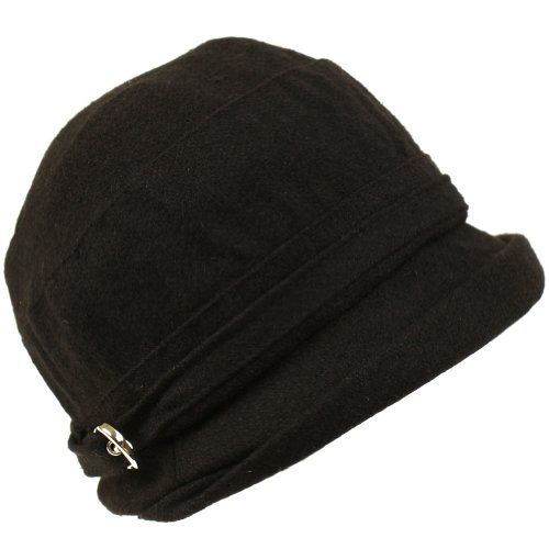 Winter Beanie Bucket Foldable Crusher Shimmer Hat Black $19.95
