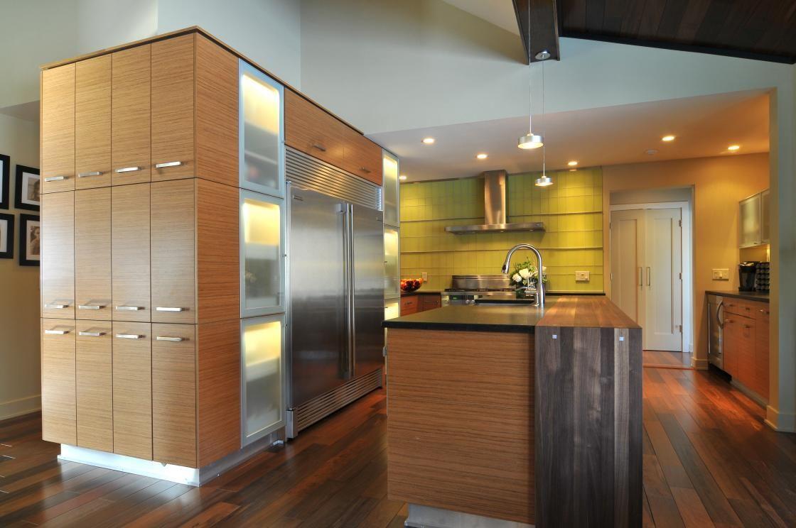 Talora Custom Cabinets In Contemporary Teak Veneer Love The Wood Tones Http Www Talor Kitchen Design Gallery Kitchen Renovation Beautiful Kitchen Designs
