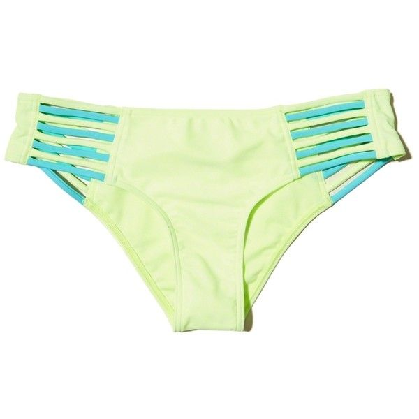 88ce638b6b Hollister Strappy Original Cheeky Bikini Bottom ( 9.99) ❤ liked on Polyvore  featuring swimwear