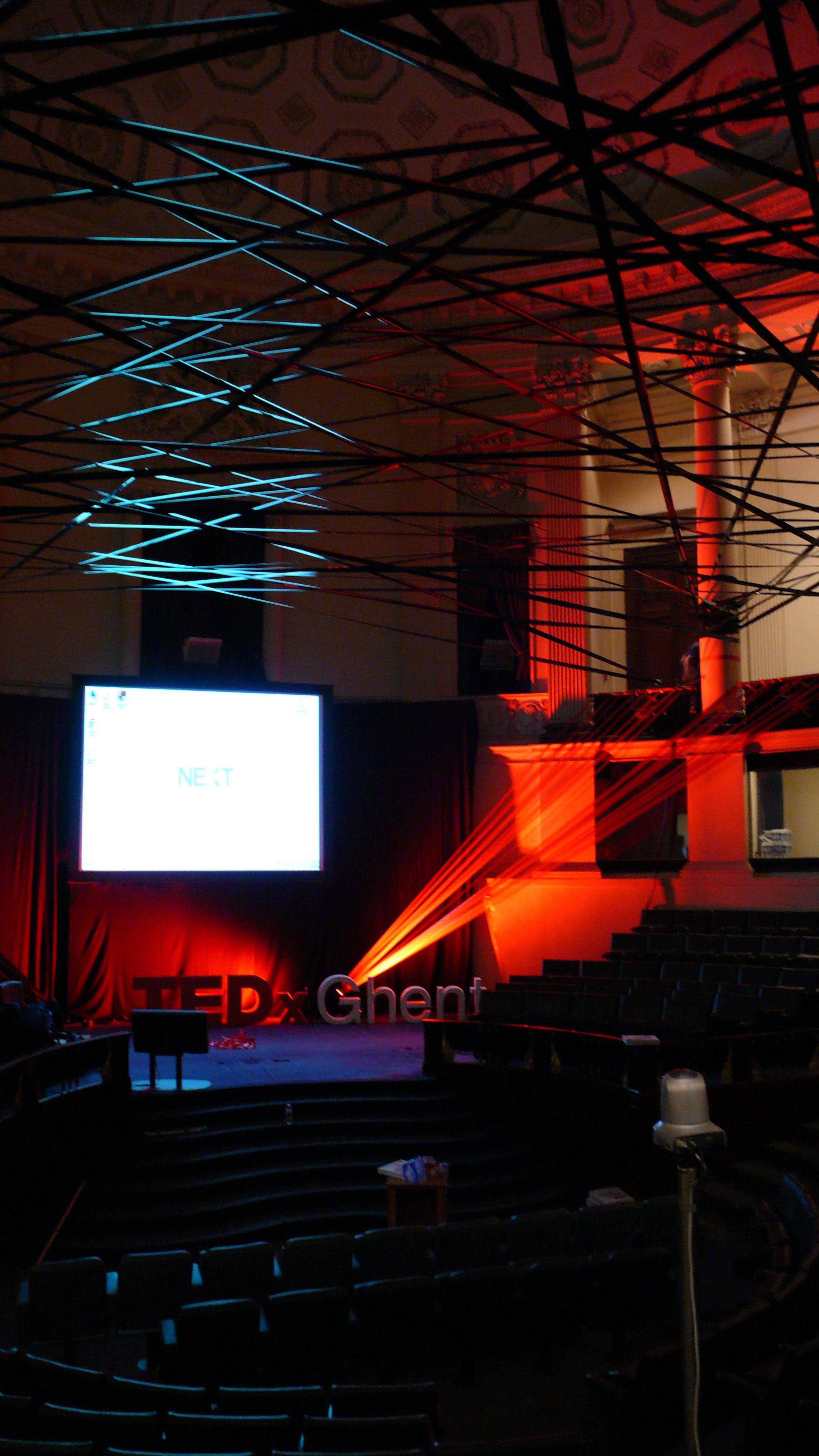 Stage Tedx Ghent By Studio Peter Van Riet Wwwstudiopetervanrietcom