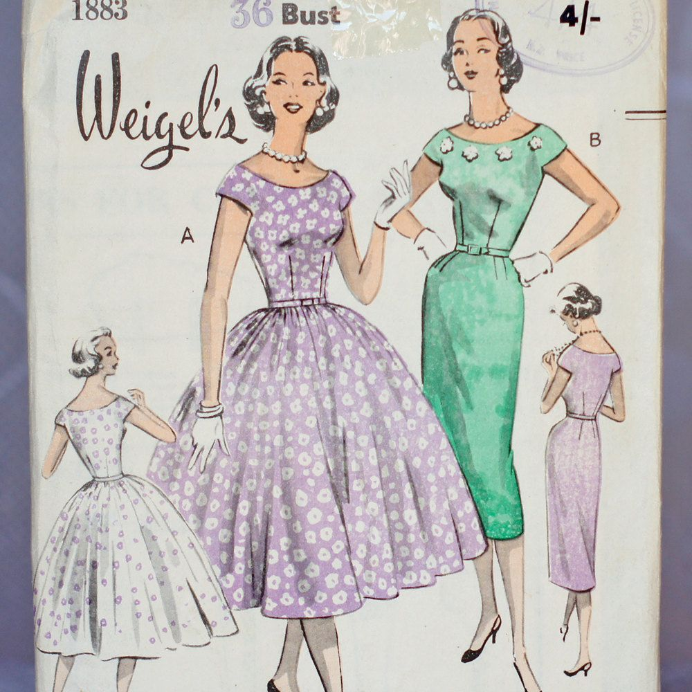 Weigel\'s Evening Dress Vintage Sewing Pattern Weigel\'s 1883, Size 16 ...