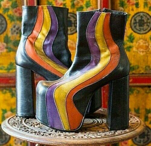 70er Jahre Schuhe! | Vintage schuhe, 70er mode und 70er