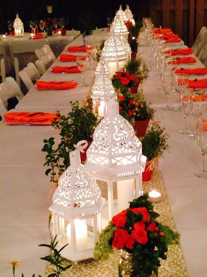 Backyard Wedding Centerpieces Backyardwedding Colorful Decor Tables
