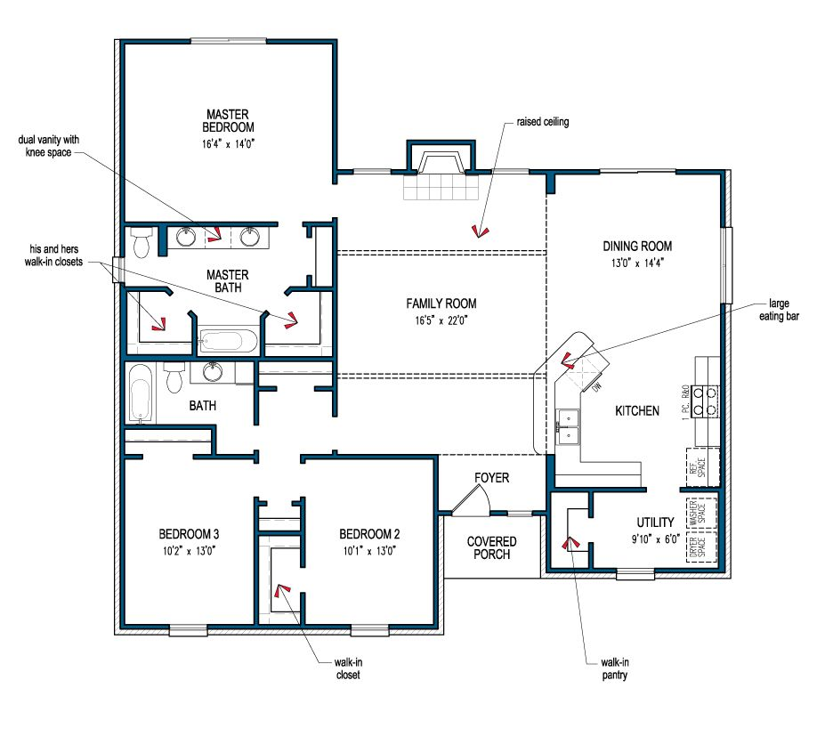 Floor Plan Of The Carlton Iii Informal By Tilson Homes Tilsonhomes Customhomebuilder Floor Plans House Floor Plans How To Plan