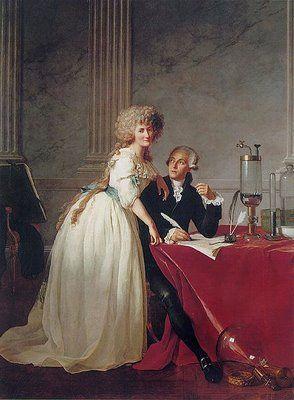 Jacques-Louis David. Portrait of Antoine-Laurent Lavoisier and His Wife (1788).