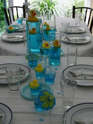 Rubber Ducky Baby Shower Centerpieces | Rubber Duckie Theme.