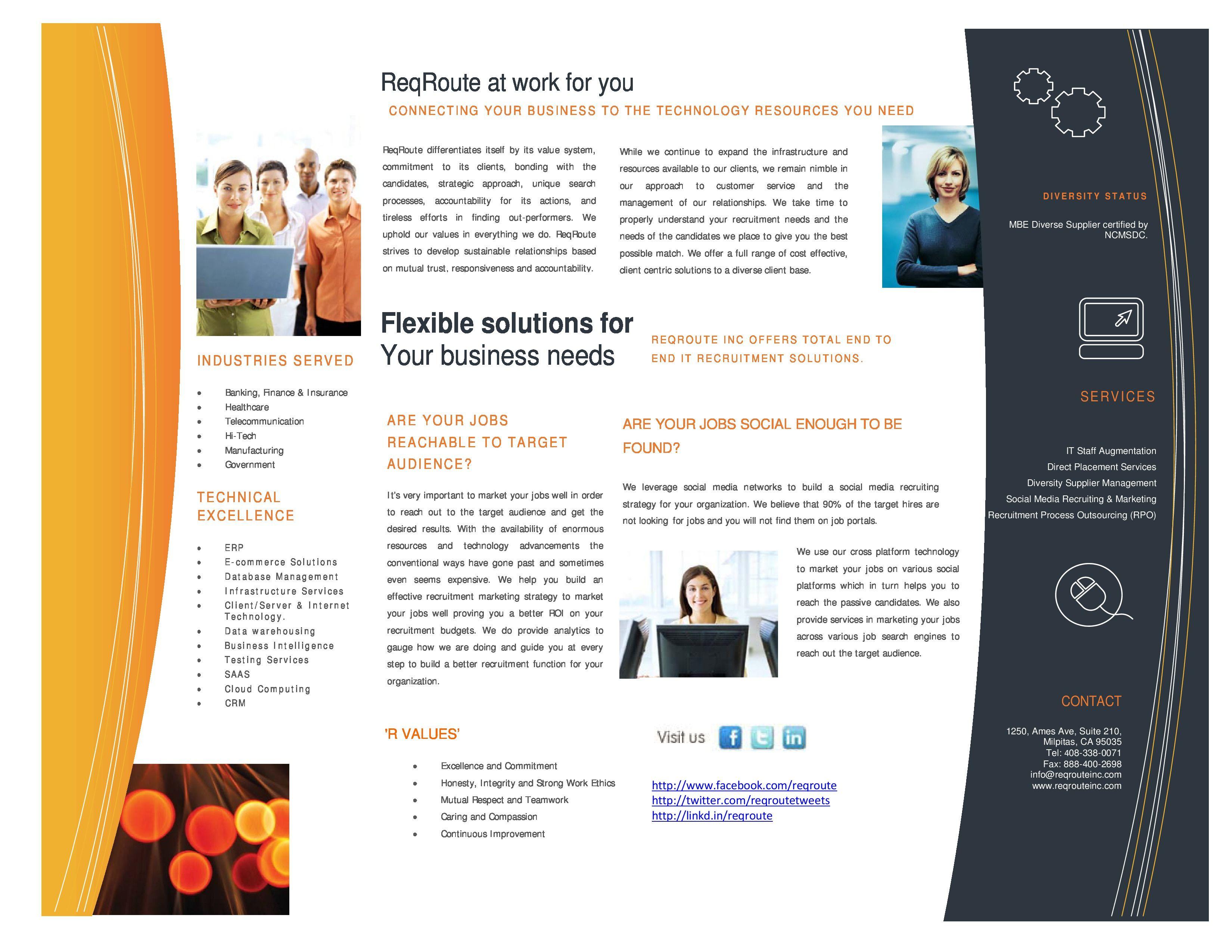 Company Profile Pg 2 Brochure Template Free Brochure Template Brochure Design Template
