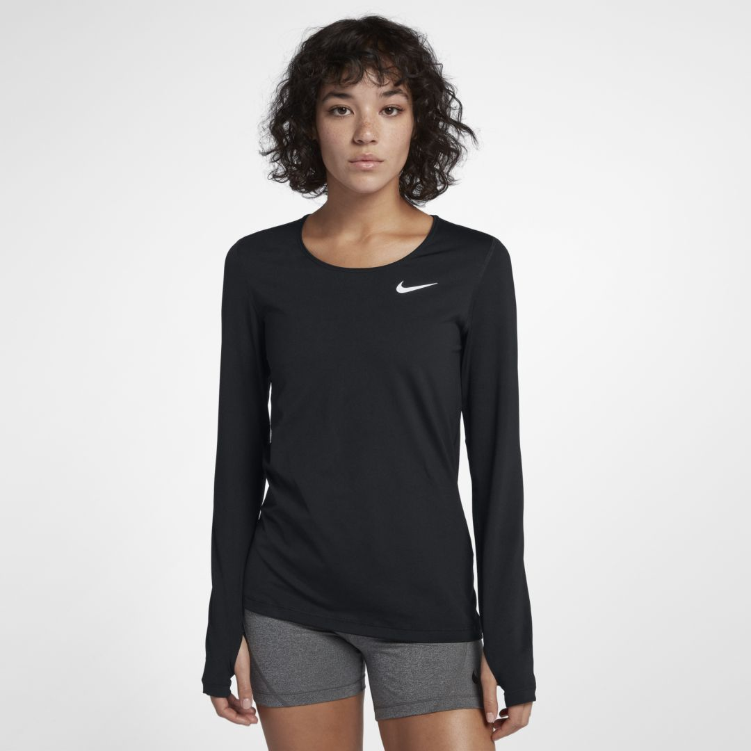 9fe311c6e8149 Nike Pro Women s Long Sleeve Training Top Size M (Black)