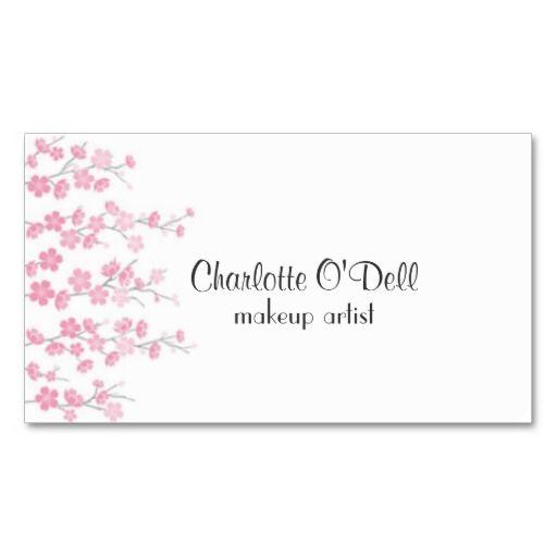 Cherry Blossom Business Card Bizcardstudio Co Uk Business Cards Floral Business Cards Cards