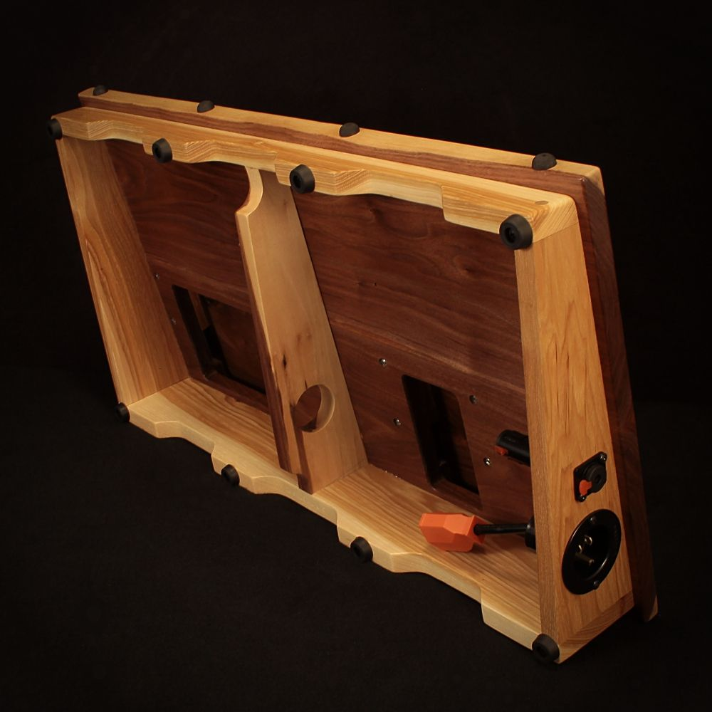 walnut and hickory atlas stands guitar effects pedal board projects to try diy pedalboard. Black Bedroom Furniture Sets. Home Design Ideas