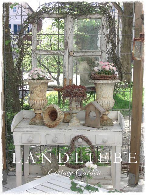 Landliebe cottage garden gartendeko pinterest garten garten ideen und garten deko - Cottage garten terrasse ...