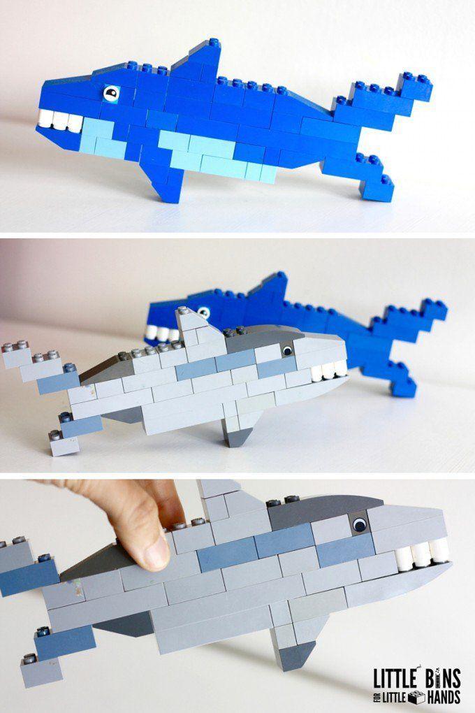 Lego Sharks Building Activity For Shark Week Kids Fun Stuff
