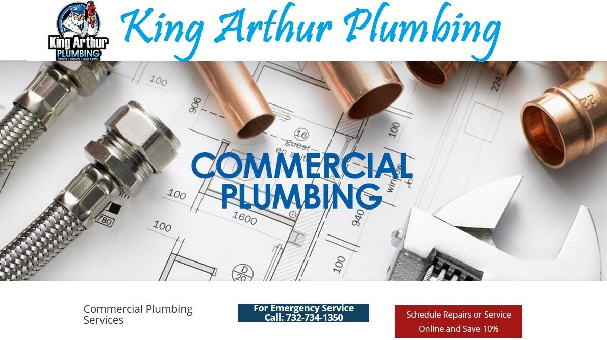 Commercial plumbing services which are available from King