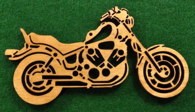 Motorcycle Ornament Black Metal Laser Cut