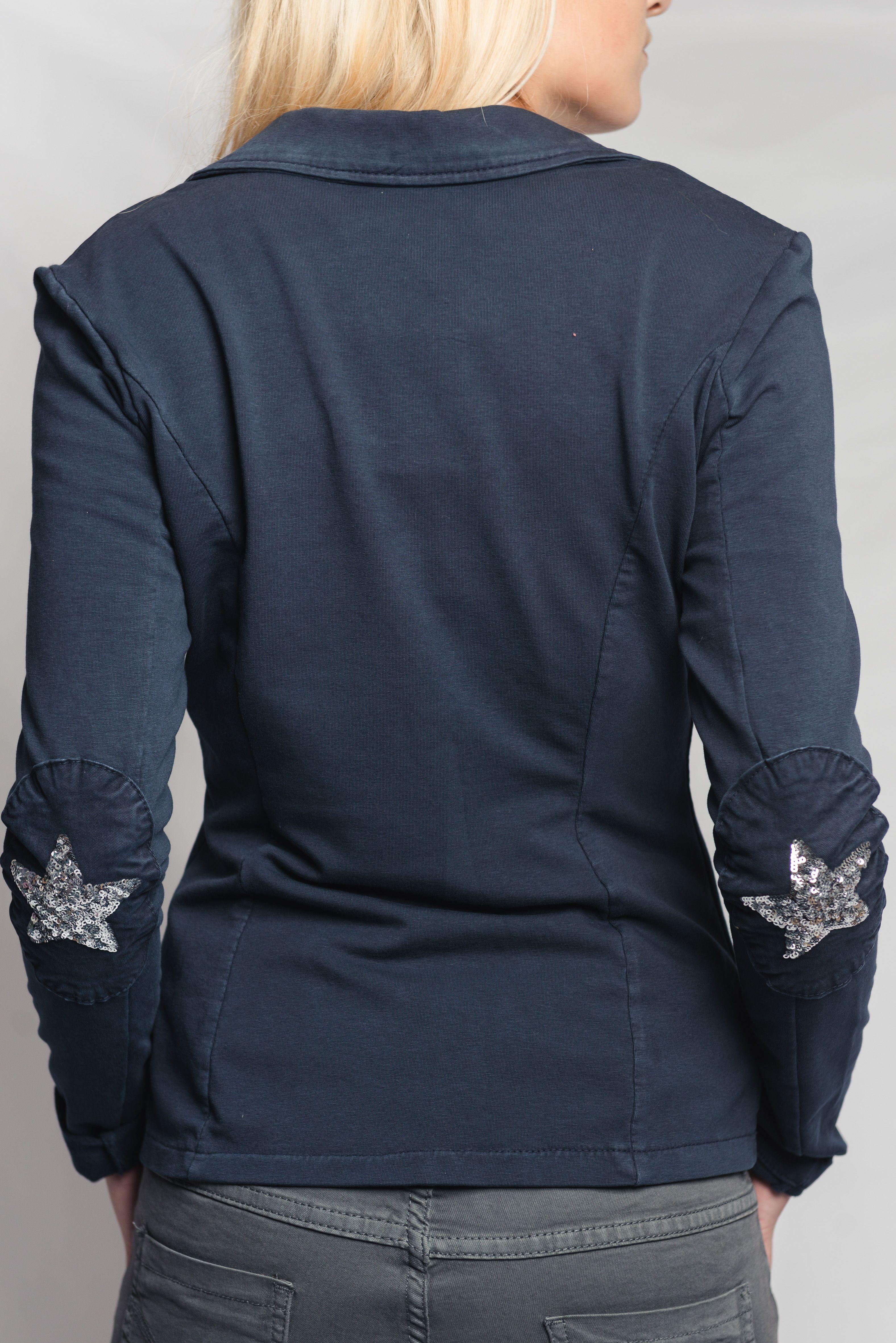 Veste coton femme bleu marine