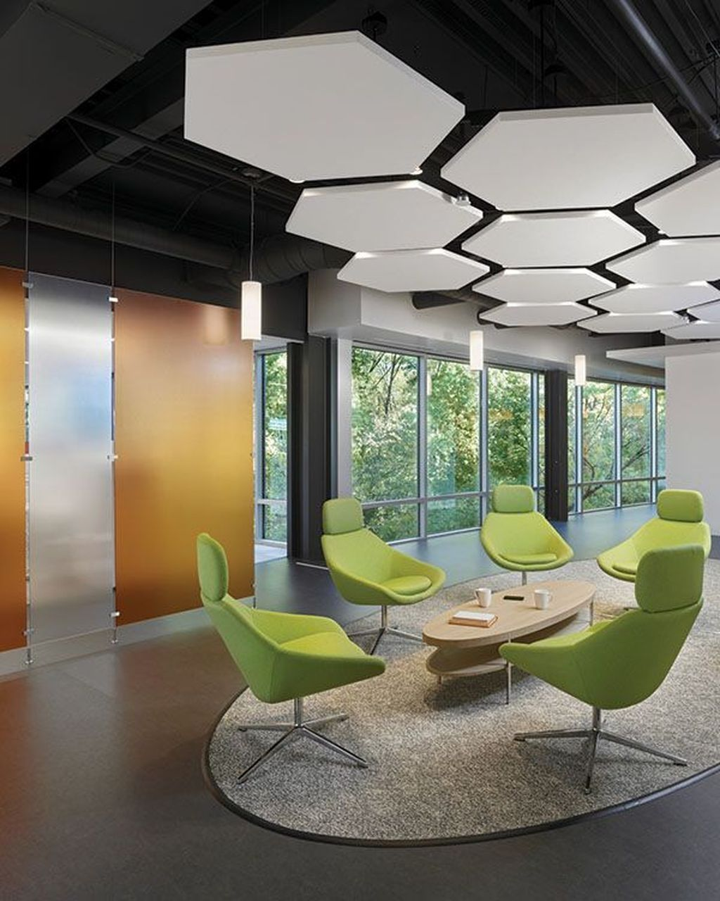 42 Relaxing Modern Office Space Design Ideas Office Space