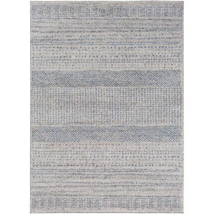 Ponce Medium Gray Bright Blue Area Rug