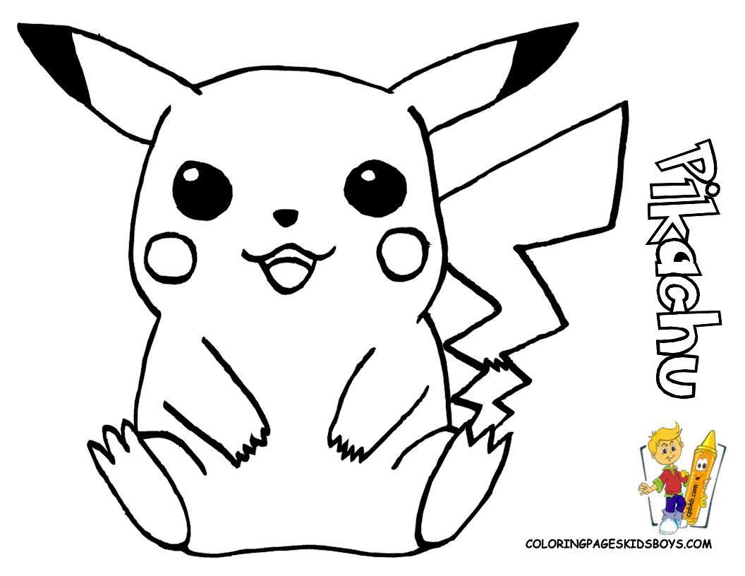 Pokemon Pikachu Coloring Pages Free Dengan Gambar