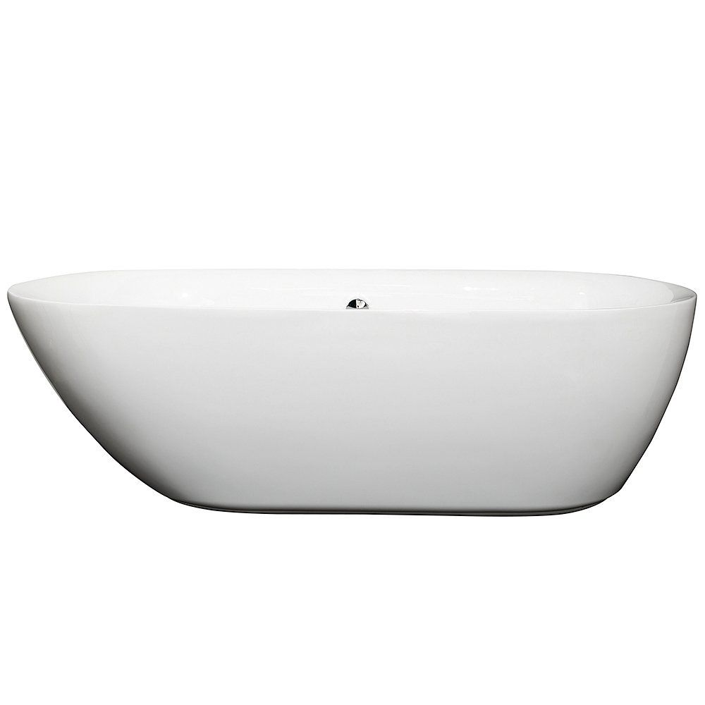 Melissa 71 inch Deep Soaking Bathtub in White (Freestanding) with ...