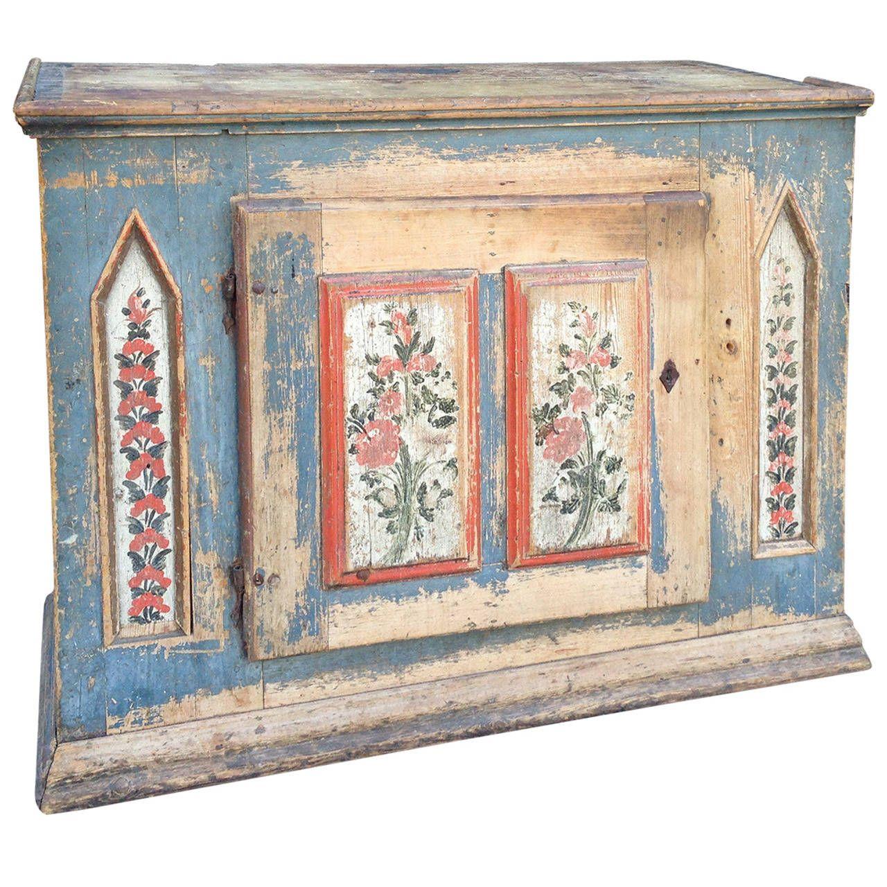 1850 Swedish Painted Cupboard 1stdibs Com Antique Paint Distressed Wood Furniture Scandinavian Style Furniture