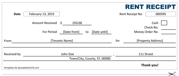 14 Rent Receipt Templates Excel Pdf Formats Receipt Template Templates Treatment Plan Template