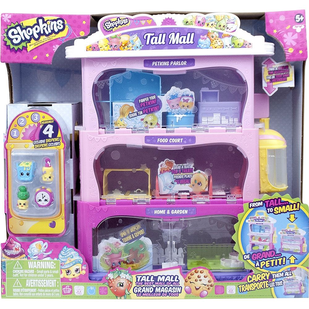 It S The Mall That Can Change From Small To Tall Set It Up Tall To See It All Shopkins Tall Mall Shopkins Toy Store
