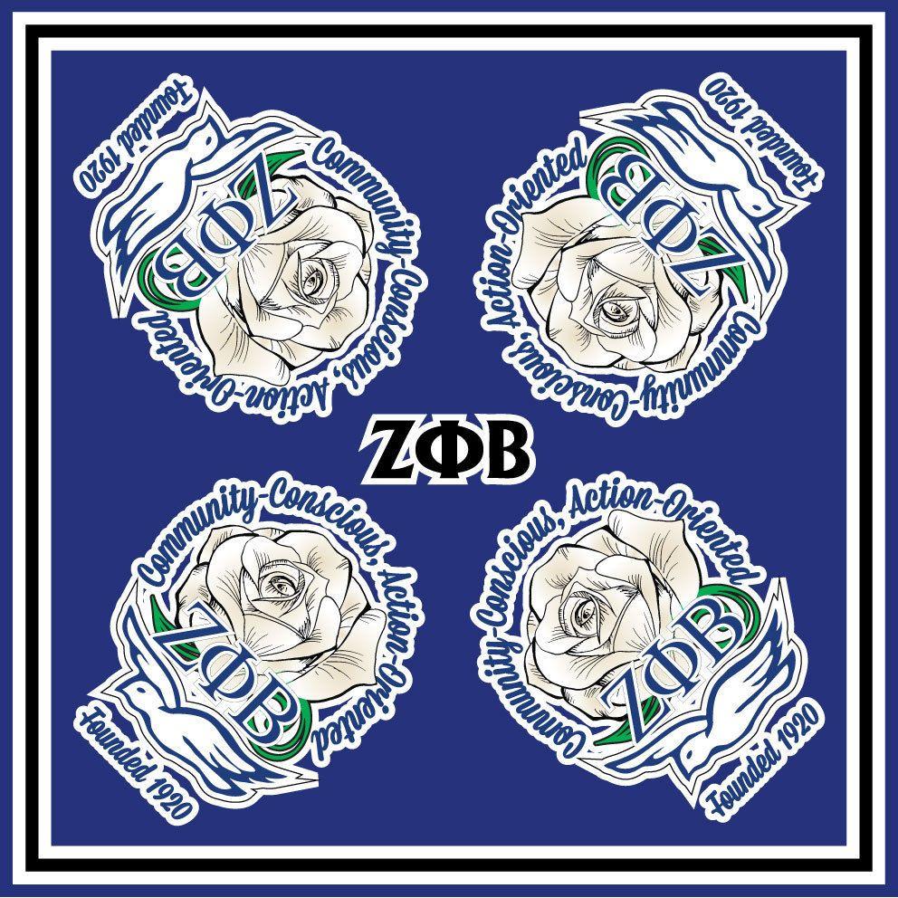 Zeta phi beta sorority scarf with organization symbol and flower zeta phi beta sorority scarf with organization symbol and flower new buycottarizona