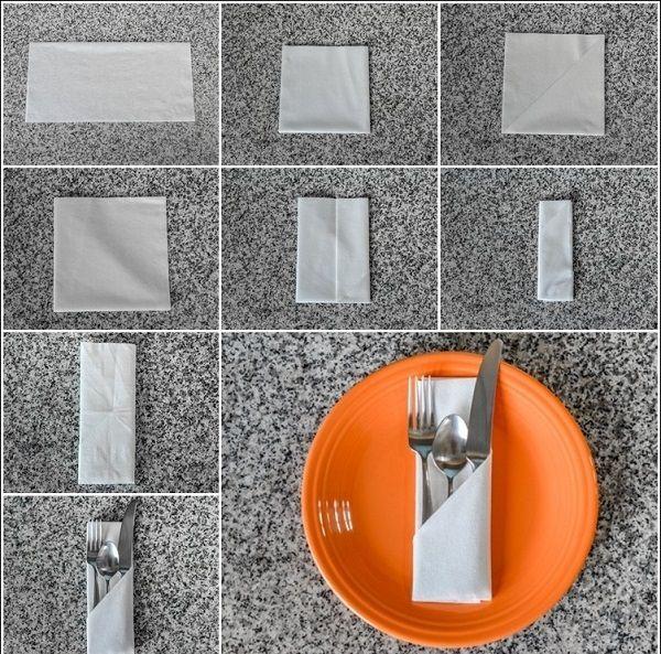 Einfache und kreative DIY Hochzeit Serviette Fold Designs (25+)