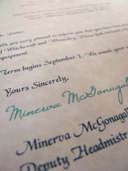 Make your own Hogwarts acceptance letter. Harry potter