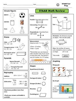 3rd grade math staar study guide for the teacher pinterest rh pinterest com 4th Grade STAAR Math Vocabulary 4th Grade STAAR Practice Tests