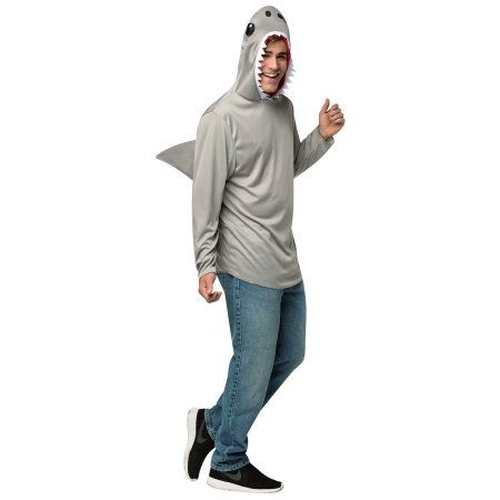 Shark Menu0027s Adult Halloween Costume Size 38-47 Multicolor  sc 1 st  Pinterest & Shark Menu0027s Adult Halloween Costume Size: 38-47 Multicolor | Shark ...