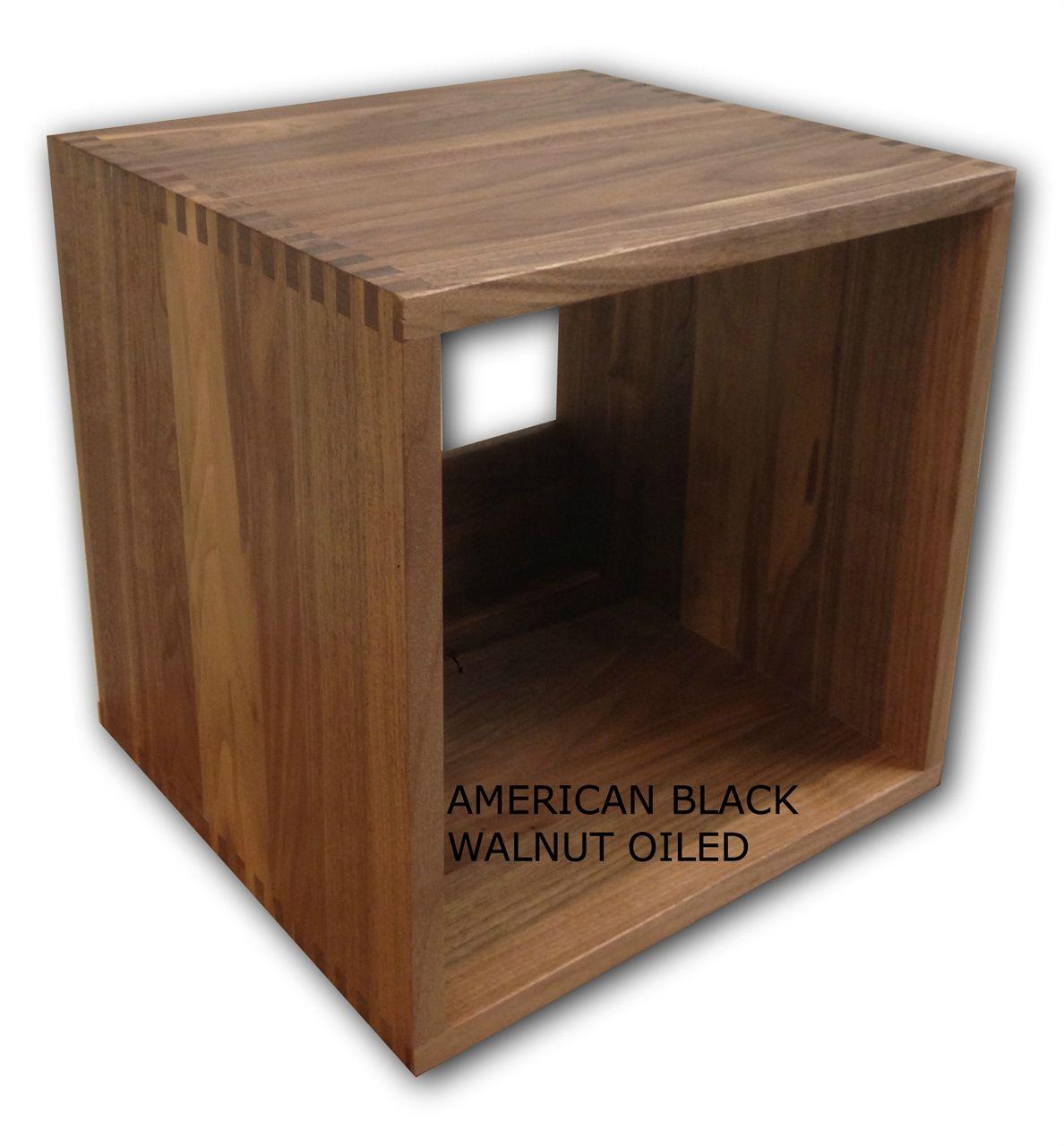 Jcube Storage 365 Walnut Vinyl Record Storage Cube Record