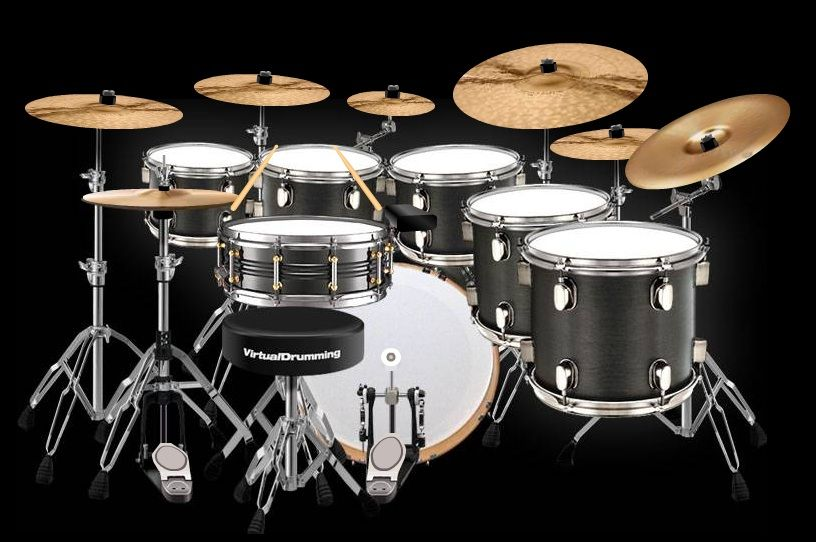 Custom Drum Kits    and play his drum kit. Excellent