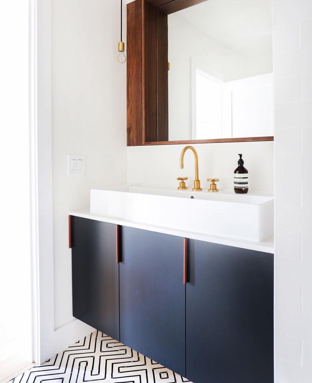 Brass | Wall mount vanity | California faucets | Tiburon | cross ...