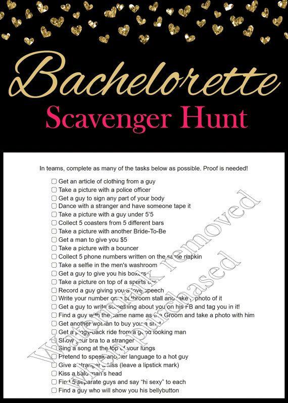 graphic about Bachelorette Scavenger Hunt Printable known as Bachelorette Scavenger Hunt - Bachelorette Social gathering Video games