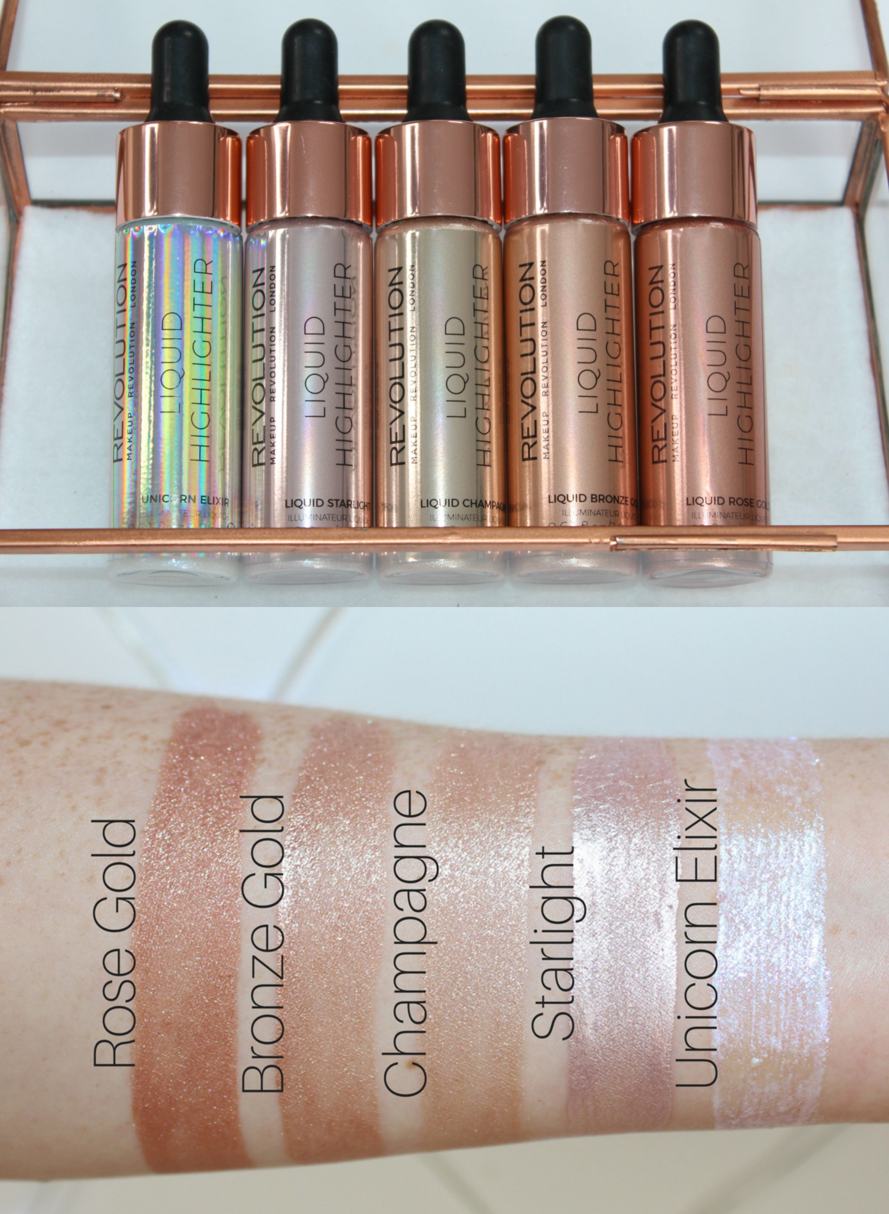 Makeup Revolution Liquid Highlighter Review & Swatches