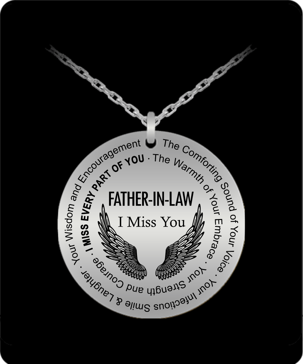 Daddy Is My Angel Silver Heart Pendant Necklace Father Dad Men Jewelry Xmas Gift