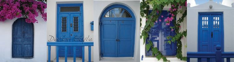 Items Similar To Set Of Five Blue Doors Collection Greek Blue Doors And Windows Original High Resolution Digital Photography Fil Blue Door Greek Blue Doors