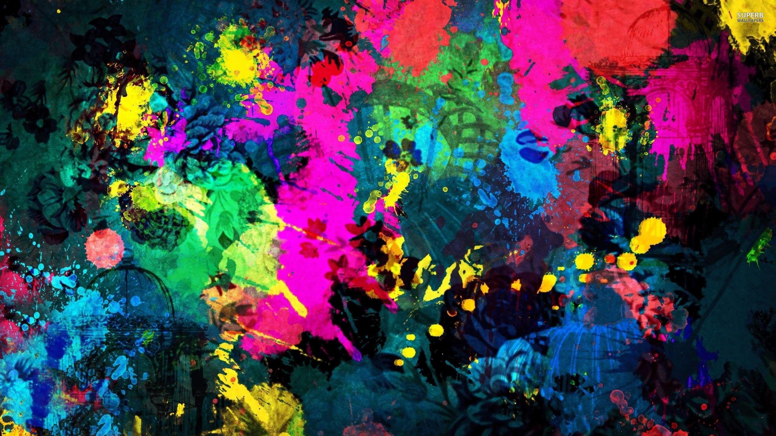 2560x1440 Paint Splatter Wallpaper Abstract Wallpapers 18804 Abstract Art Wallpaper Abstract Wallpaper Art Wallpaper