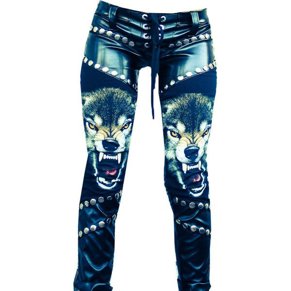 Toxic Vision Clothing ; edit by cloudcastles ❤ liked on Polyvore featuring pants, bottoms, ring gear and jeans