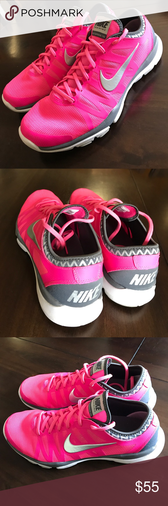 NIKE Flex Supreme Tr3 training sneakers Like New. Training sneakers by Nike in pink. Perfect for running, working out or just causal with leggings. Worn a few times, with little sign of wear! Nike Shoes Athletic Shoes