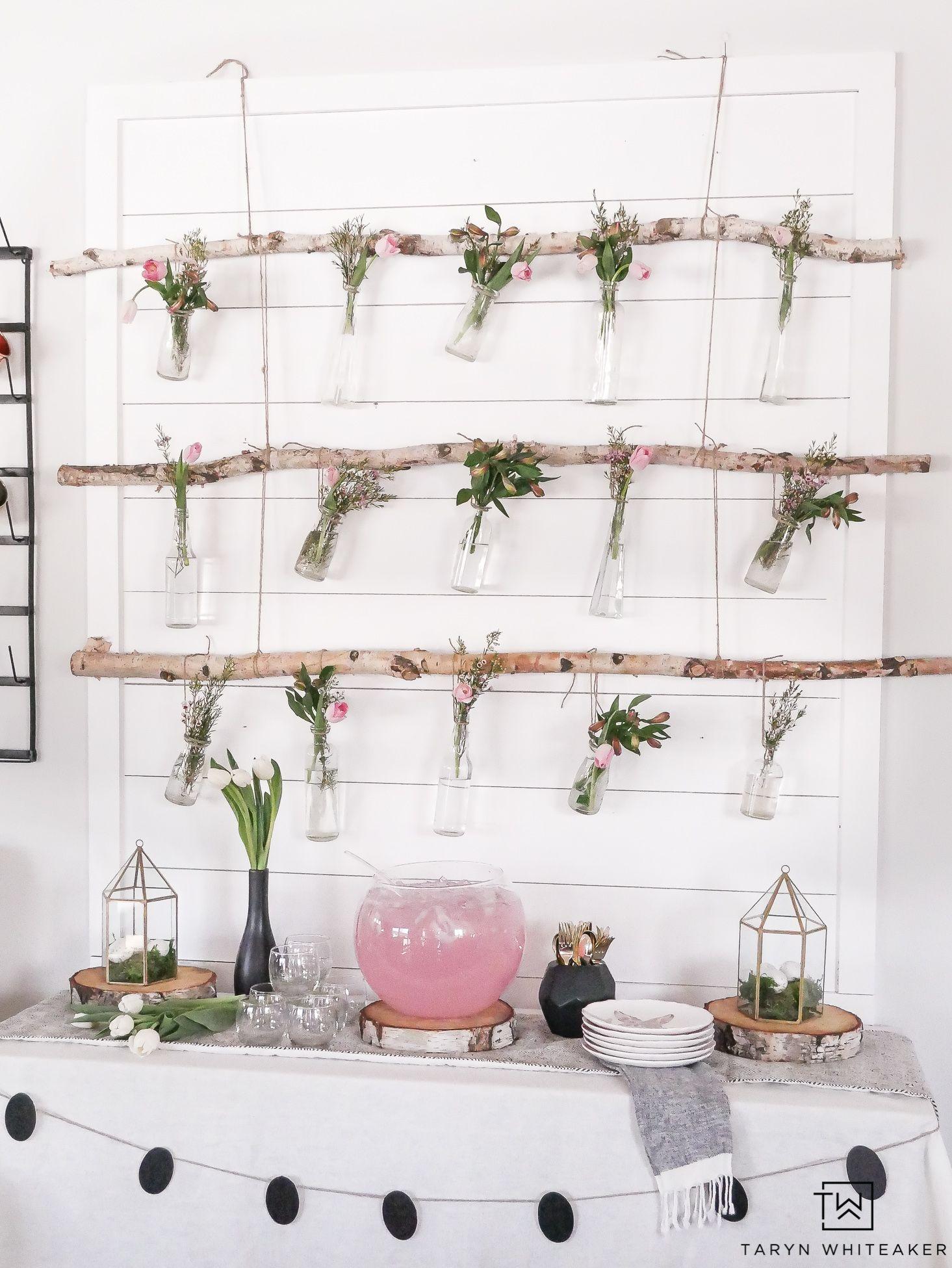 Diy Hanging Floral Backdrop Hanging Jars Diy Hanging