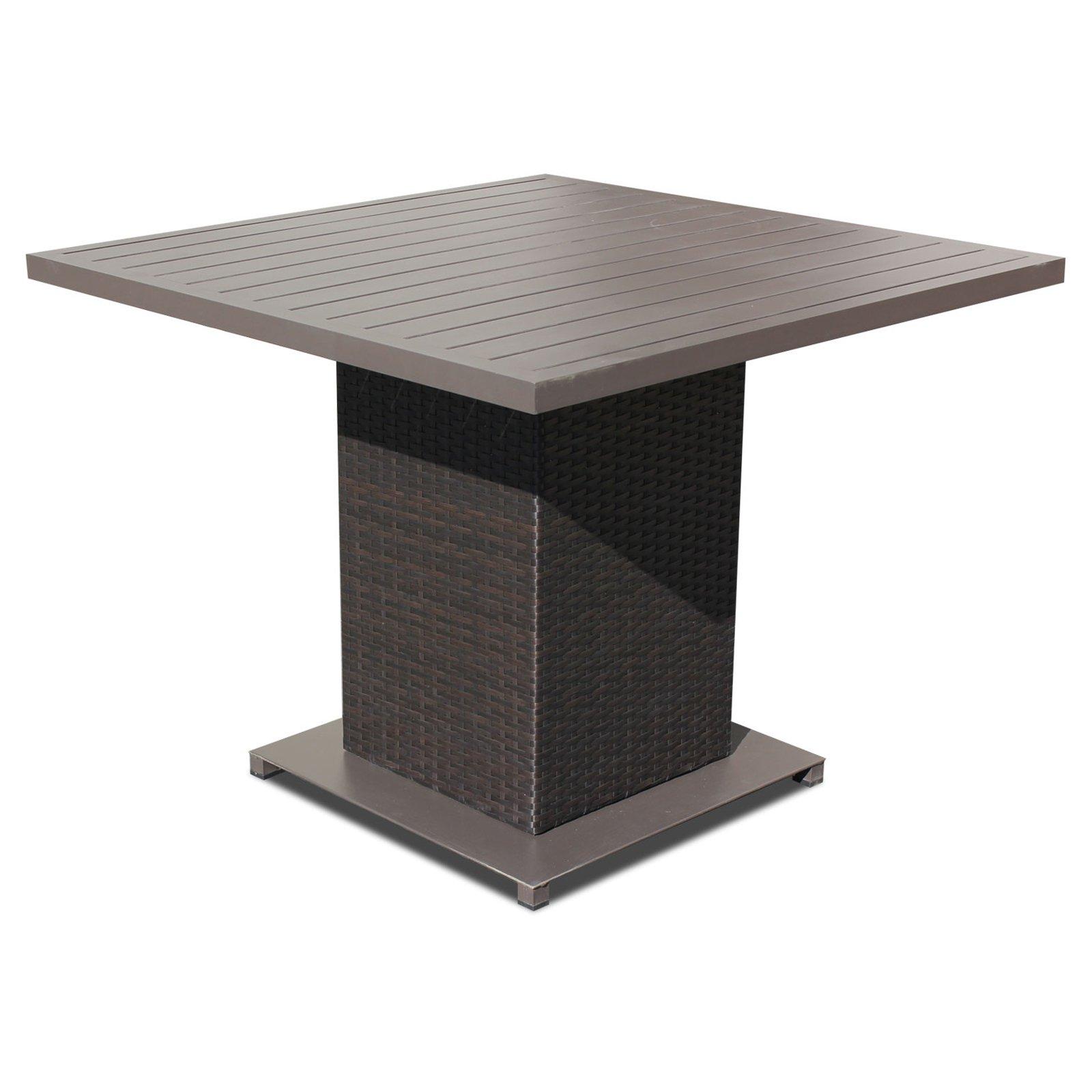 Outdoor tk classics napa wicker square patio dining table